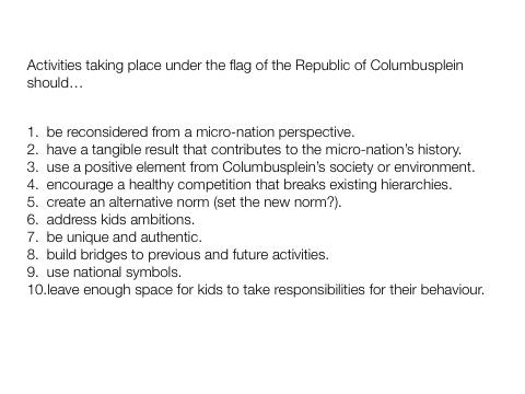 Columbusplein set of rules