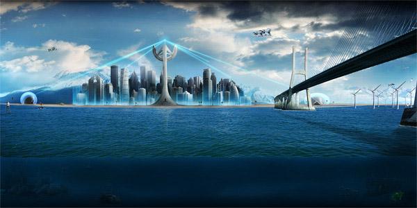Utopische visie op de stad. Capital 3.0. Door: Revolved